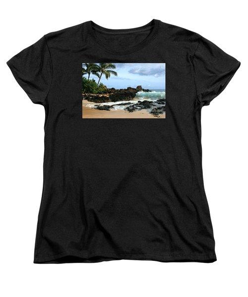 Lapiz Lazuli Stone Aloha Paako Aviaka Women's T-Shirt (Standard Cut) by Sharon Mau