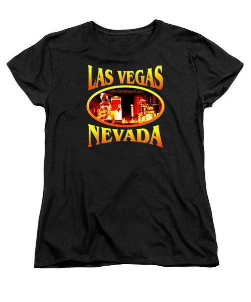 Las Vegas Nevada - Tshirt Design Women's T-Shirt (Standard Cut) by Art America Gallery Peter Potter