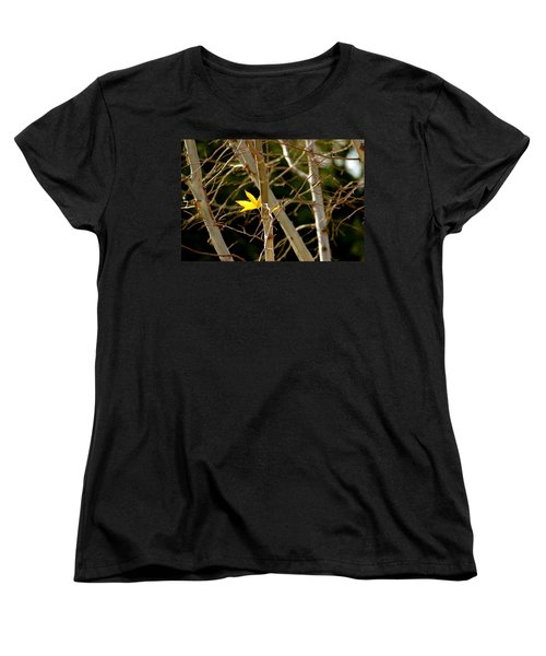 Women's T-Shirt (Standard Cut) featuring the photograph Last Leaf by Kume Bryant