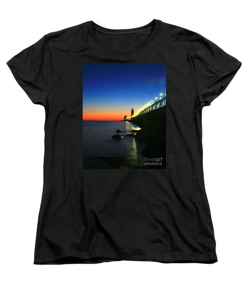 Last Light Grand Haven Michigan Women's T-Shirt (Standard Cut) by Robert Pearson