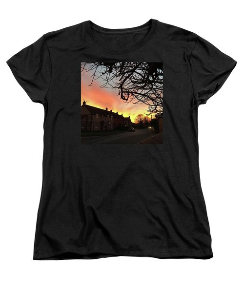 Last Night's Sunset From Our Cottage Women's T-Shirt (Standard Cut) by John Edwards