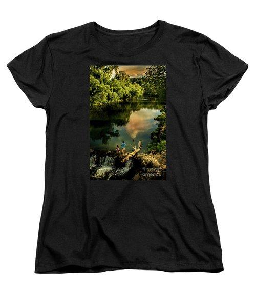 Women's T-Shirt (Standard Cut) featuring the photograph Last Seconds Of Summer by Robert Frederick