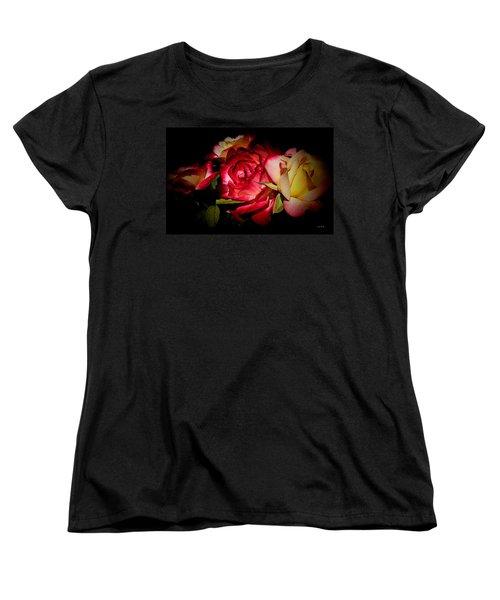 Last Summer Roses Women's T-Shirt (Standard Cut) by Gabriella Weninger - David
