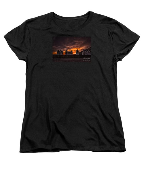 Last Supper At Sunset Women's T-Shirt (Standard Cut) by Janis Knight