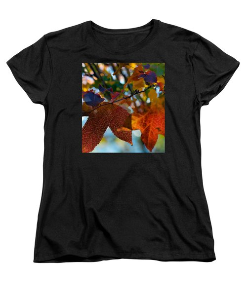 Late Autumn Colors Women's T-Shirt (Standard Cut) by Stephen Anderson