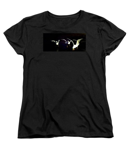 Women's T-Shirt (Standard Cut) featuring the photograph Late Night Snack by Mike Breau