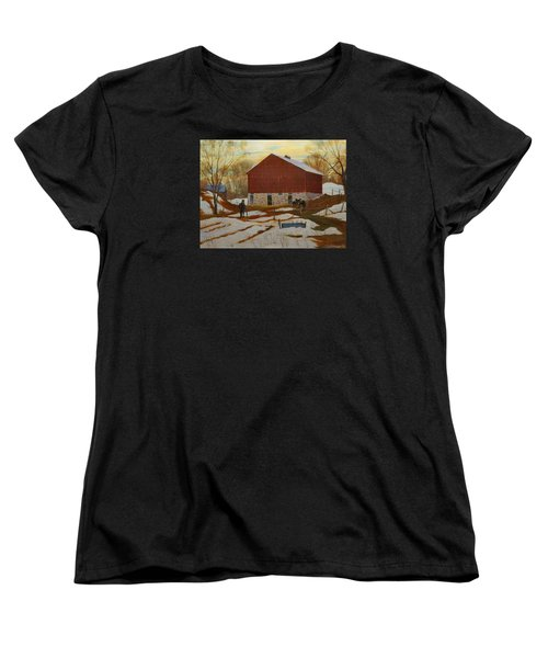 Late Winter At The Farm Women's T-Shirt (Standard Cut) by David Gilmore