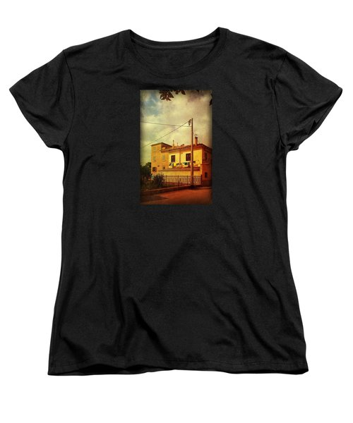 Women's T-Shirt (Standard Cut) featuring the photograph Laundry Day by Anne Kotan