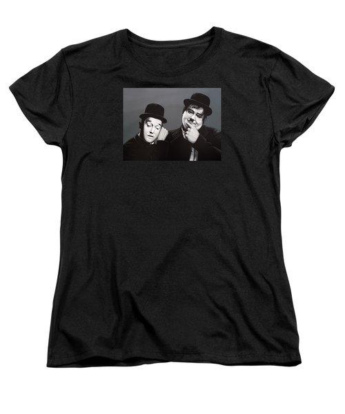 Laurel And Hardy Women's T-Shirt (Standard Cut) by Paul Meijering