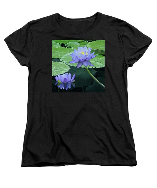 Women's T-Shirt (Standard Cut) featuring the photograph Lavender Enchantment by Byron Varvarigos