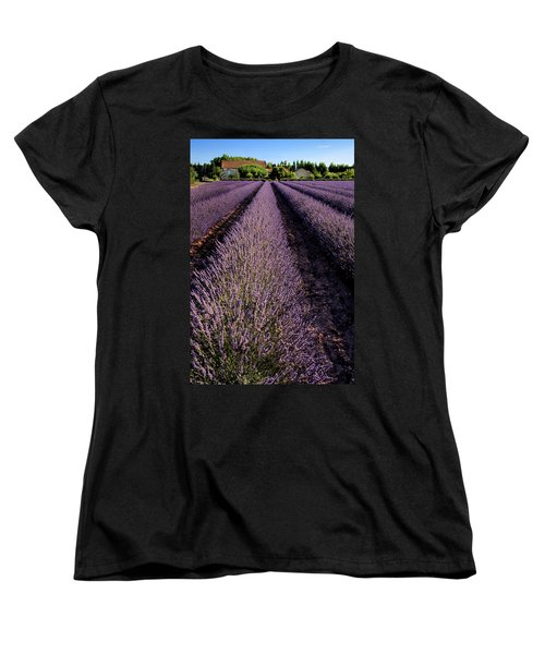 Lavender Field Provence France Women's T-Shirt (Standard Cut) by Dave Mills