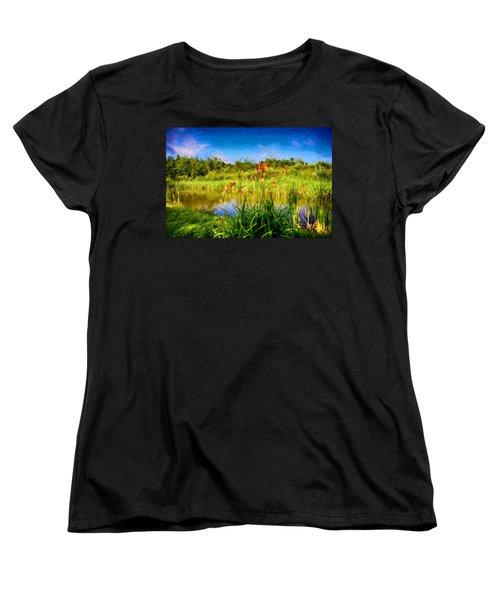 Lazy Summer Women's T-Shirt (Standard Cut) by Tricia Marchlik