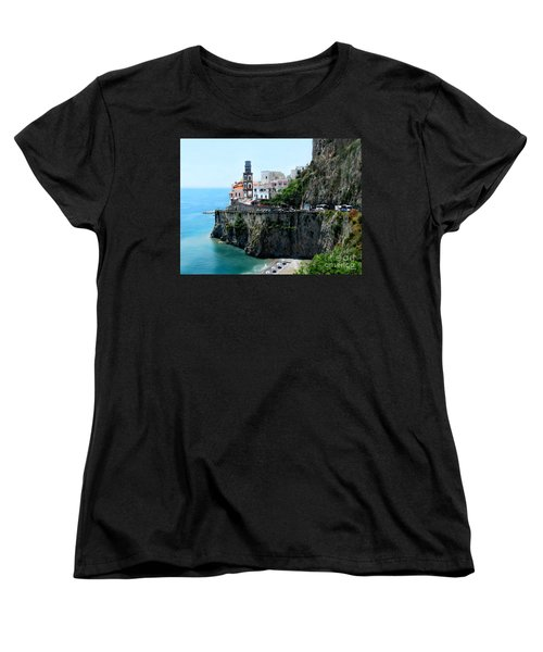 Leaving Atrani  Italy Women's T-Shirt (Standard Cut) by Jennie Breeze