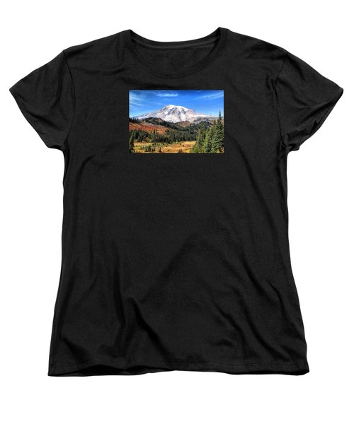 Women's T-Shirt (Standard Cut) featuring the photograph Leaving Paradise by Lynn Hopwood
