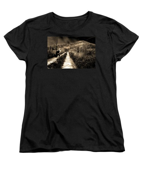 Women's T-Shirt (Standard Cut) featuring the photograph Leaving This Town by Gray  Artus