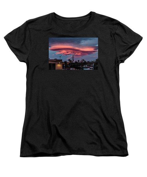 Lenticular Cloud Las Vegas Women's T-Shirt (Standard Cut) by Michael Rogers
