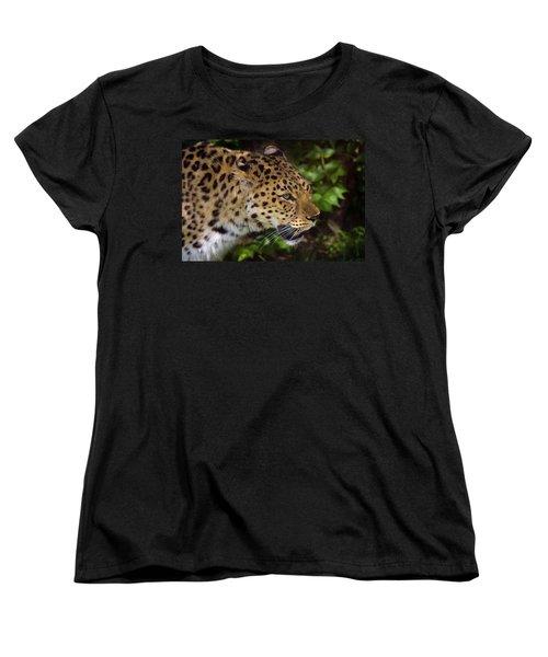Women's T-Shirt (Standard Cut) featuring the photograph Leopard by Steve Stuller