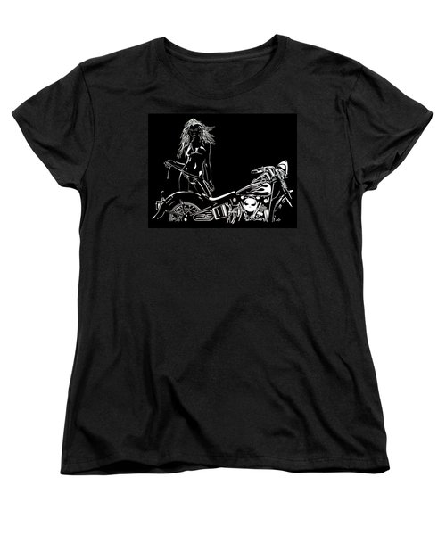 Lets Go Women's T-Shirt (Standard Cut) by Mayhem Mediums