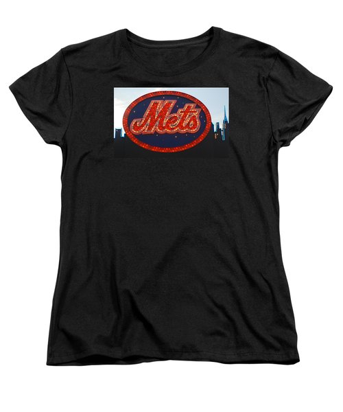 Lets Go Mets Women's T-Shirt (Standard Cut) by Richard Bryce and Family