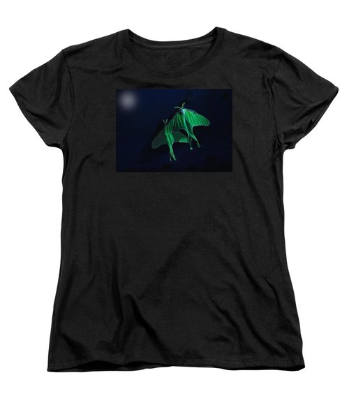 Women's T-Shirt (Standard Cut) featuring the photograph Let's Swim To The Moon by Susan Capuano