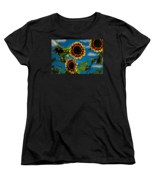 Women's T-Shirt (Standard Cut) featuring the photograph Life Of A Bumble Bee by Jason Moynihan