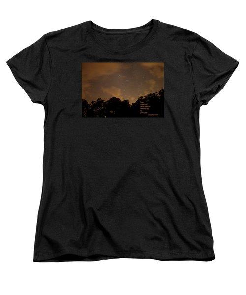 Life, Water And Stars Women's T-Shirt (Standard Cut) by Carolina Liechtenstein