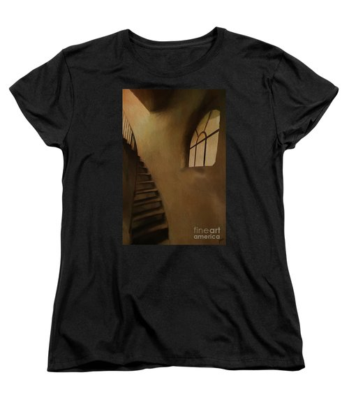 Women's T-Shirt (Standard Cut) featuring the photograph Lighthouse Stairs by Jim  Hatch
