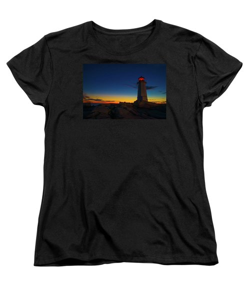 Lighthouse Sunset Women's T-Shirt (Standard Cut) by Andre Faubert