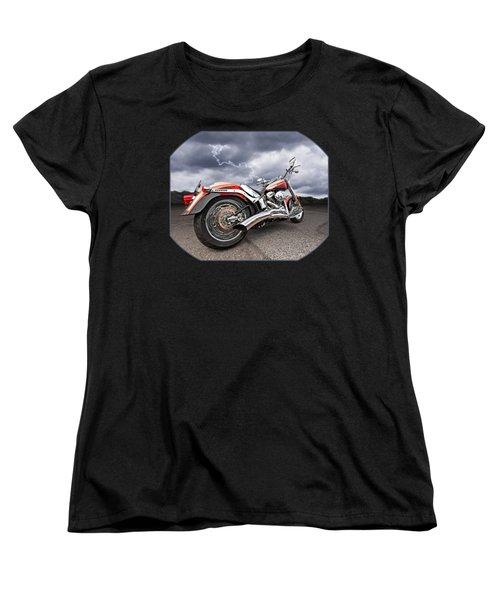 Lightning Fast - Screamin' Eagle Harley Women's T-Shirt (Standard Cut) by Gill Billington