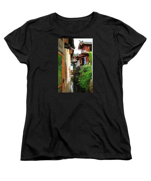 Lijiang Back Canal Women's T-Shirt (Standard Cut) by Carla Parris