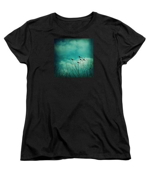 Women's T-Shirt (Standard Cut) featuring the photograph Like Birds On Trees by Trish Mistric
