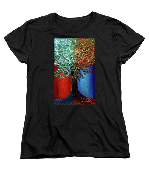 Like The Changes Of The Seasons Women's T-Shirt (Standard Cut) by Ania M Milo