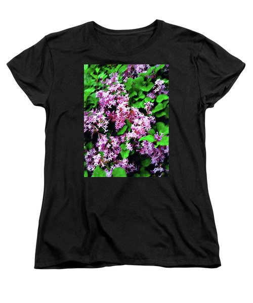 Women's T-Shirt (Standard Cut) featuring the painting Lilacs In May by Sandy MacGowan
