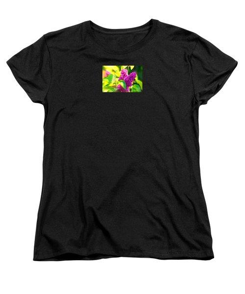 Women's T-Shirt (Standard Cut) featuring the photograph Lilacs by Susanne Van Hulst