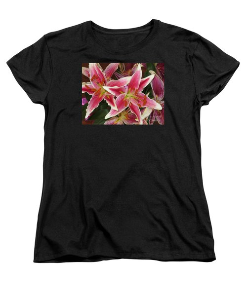 Lilies Women's T-Shirt (Standard Cut) by Tim Townsend