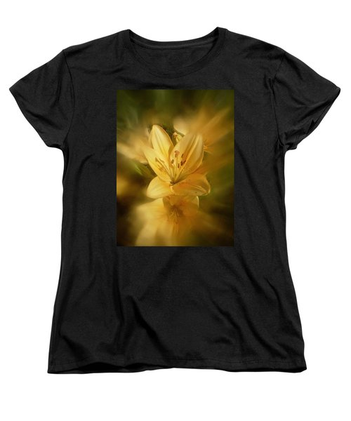 Women's T-Shirt (Standard Cut) featuring the photograph Lily Be Mine by Richard Cummings