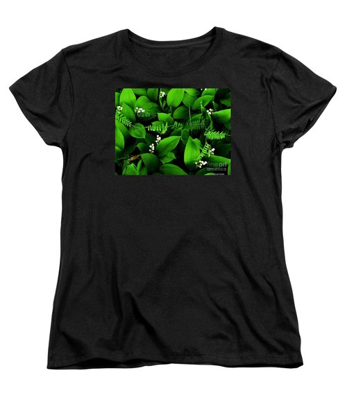 Lily Of The Valley Women's T-Shirt (Standard Cut) by Elfriede Fulda
