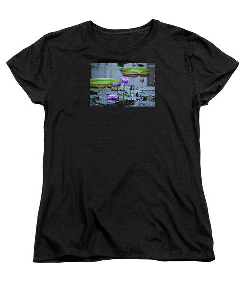 Lily Pond Wonders Women's T-Shirt (Standard Cut) by Maria Urso