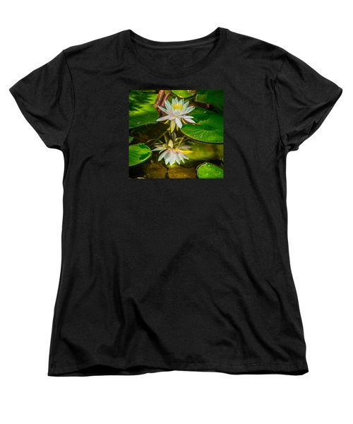 Lily Reflection Women's T-Shirt (Standard Cut) by Jerry Cahill