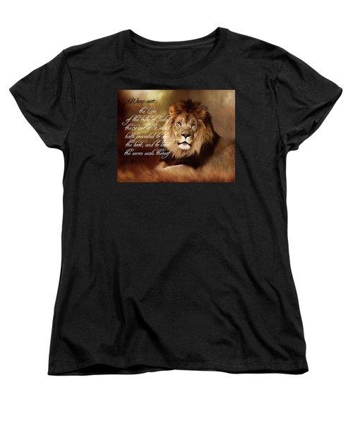 Lion Of Judah Women's T-Shirt (Standard Cut) by TnBackroadsPhotos