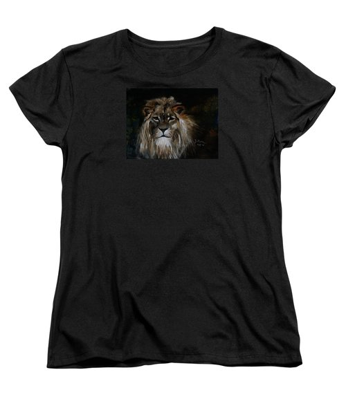 Sargas The Lion Women's T-Shirt (Standard Cut) by Barbie Batson