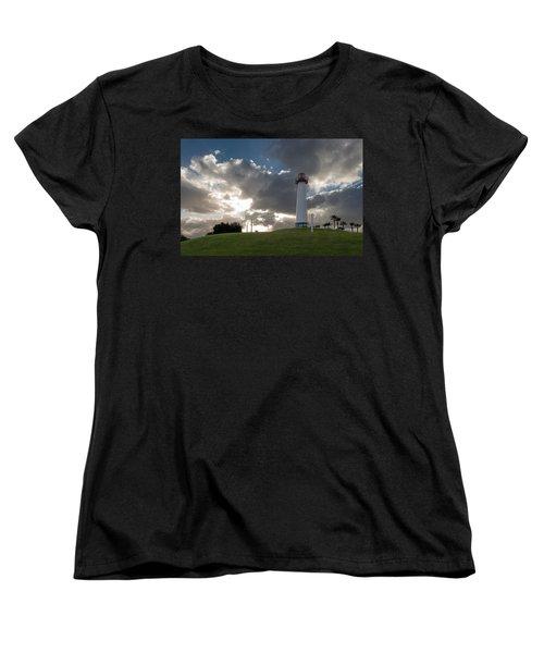 Lion's Lighthouse For Sight - 2 Women's T-Shirt (Standard Cut) by Ed Clark