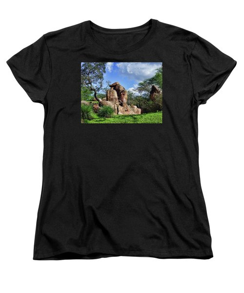 Women's T-Shirt (Standard Cut) featuring the photograph Lions On The Rock by B Wayne Mullins