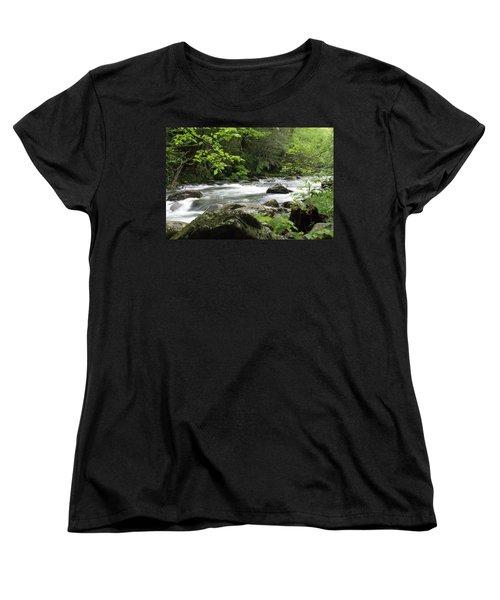 Litltle River 1 Women's T-Shirt (Standard Cut) by Marty Koch