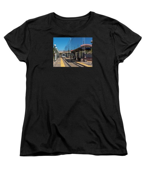 Littleton Rtd Light Rail Station Women's T-Shirt (Standard Cut) by Stephen  Johnson