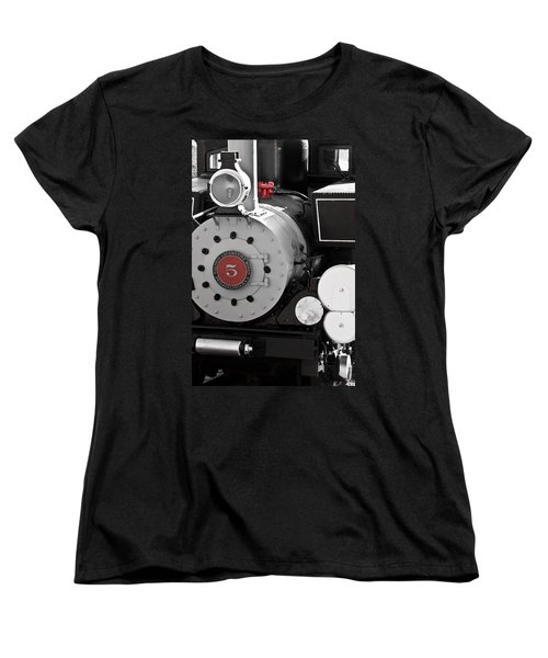 Locomotive Number Five Women's T-Shirt (Standard Cut) by Colleen Coccia
