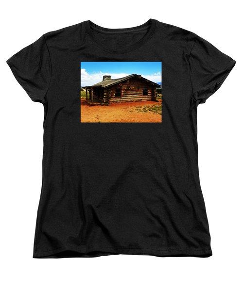 Women's T-Shirt (Standard Cut) featuring the photograph Log Cabin Yr 1800 by Joseph Frank Baraba