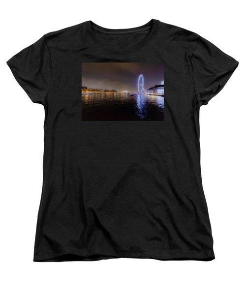 London Eye At Night Women's T-Shirt (Standard Cut) by Patrick Kain