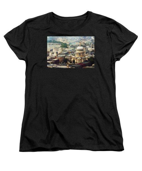 London Rooftops Women's T-Shirt (Standard Cut) by Judi Saunders