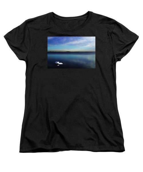 Lone Ice Women's T-Shirt (Standard Cut) by Anthony Jones